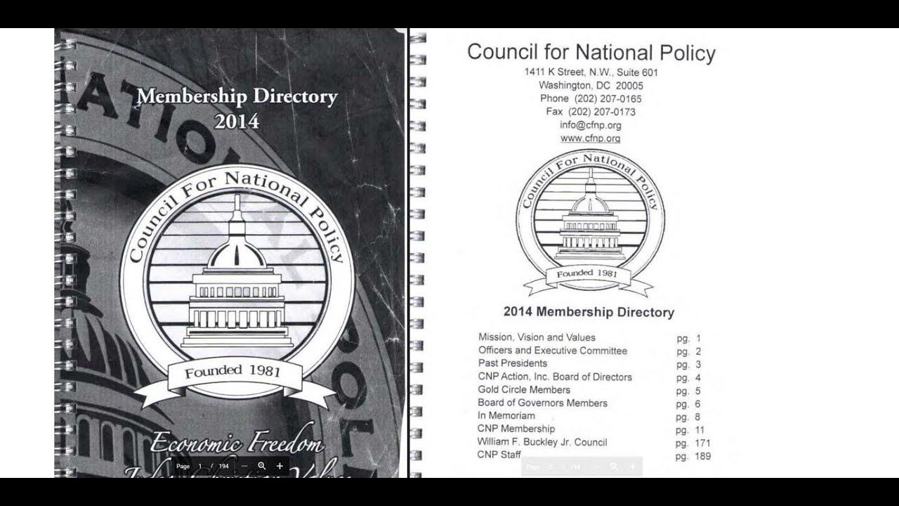 Der Council for National Policy manipuliert die gesamte Rechte